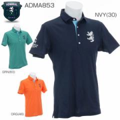 アドミラル メンズ ゴルフウエア ボタニカル ワイドカラー 半袖ポロシャツ ADMA853 2018年春夏モデル