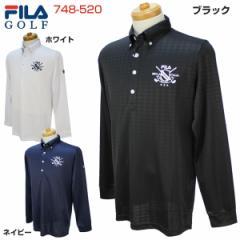 フィラ メンズ ゴルフウェア ダイヤジャガード 長袖ポロシャツ 748-520 2018年春夏モデル