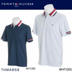 トミー ヒルフィガー ゴルフ メンズウエア フラワー 半袖ポロシャツ THMA859 2018年春夏モデル