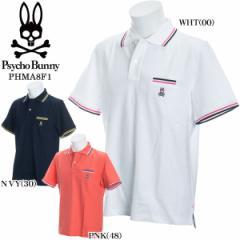 サイコバニー ポロシャツ 半袖 メンズ ゴルフウェア PHMA8F1 M-XL