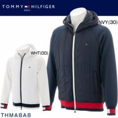 トミー ヒルフィガー ゴルフ メンズウエア ストレッチ ダブル ニット 中綿ジャケット THMA8A8 2018年秋冬モデル M-LL