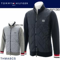 トミー ヒルフィガー ゴルフ メンズウエア ランダムケーブル ジップアップ ニット ブルゾン THMA8C5 2018年秋冬モデル M-LL