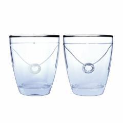 ペアグラス LARA Christie ララクリスティー プラチナ スワロフスキー グラス タンブラー  セット 送料無料 lh-84-0001p