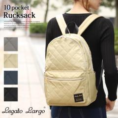 f73572ddf7a6 Legato Largo キルティング10ポケット2層式リュック レガートラルゴ レディース バッグ 鞄 カバン バック