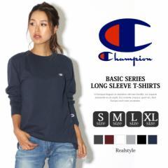 メール便送料無料 チャンピオン Tシャツ 長袖 メンズ レディース Basicシリーズ Champion ロングスリーブTシャツ C3-J424 秋色