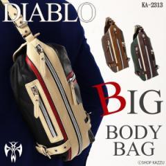《送料無料》 DIABLO ボディバッグ メンズ ワンショルダー 大容量ボディーバッグ【KA-2313】