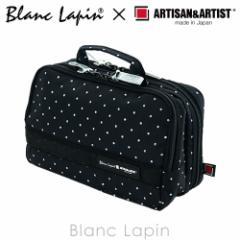 アルティザン&アーティスト 大きめサイズのスロープシェイプ・ポーチ 8OP-DT120 グロッシー・ドット #black【コラボ】 [140376]