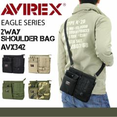 【ポイント10倍+レビュー記入で5倍】AVIREX(アヴィレックス) EAGLE(イーグル) ミニショルダーバッグ 斜め掛けバッグ ウエストバッグ 2WAY