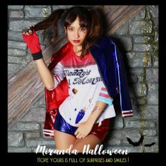 ハーレークイン レディース ハロウィン 衣装 コスプレ ハロウィン 仮装 コスチューム プチプラ グループ 団体 キャラクター