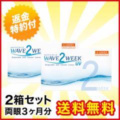 【送料無料】WAVE 2ウィーク UV×2箱セット/ウェイブ/【最短当日発送】/2週間使い捨て/2ウィーク/コンタクト/コンタクトレンズ
