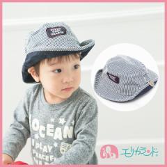 【送料無料】ヒッコリー柄 ワッペン付きテンガロン帽子 【50cm〜52cmサイズ】 ER562