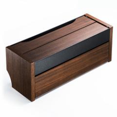 【送料無料】ケーブルボックス スマホスタンド機能 木目柄 ライトブラウン タップ収納ボックス[200-CB006]