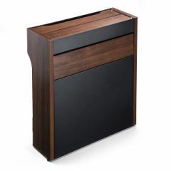 【送料無料】ケーブル & ルーター収納ボックス スマホスタンド機能 木目柄  タップ収納ボックス[200-CB007]