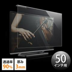 【送料無料】液晶テレビ 保護パネル 50インチ対応 アクリル製 [200-CRT016]