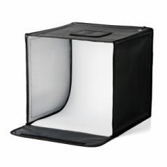撮影ボックス 40×40cm LEDライト付き 折りたたみ式[200-DG015]【送料無料】
