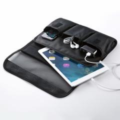 タブレットPC インナーケース 10.1インチ用 充電しながら持ち運び 小物ポケット付き iPad ケース [200-PDA136]