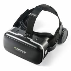 【送料無料】VRゴーグル ヘッドホン一体型 iPhone Androidスマホ 動画視聴 VR SHINECON[400-MEDIVR7]