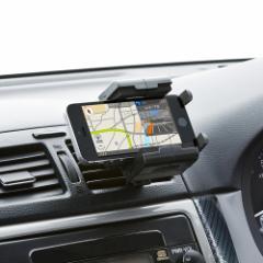 車載ホルダー エアコン吹き出し口に固定 360度回転 iPhone スマホ カーホルダー [CAR-HLD2BK]