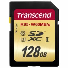 【送料無料】SDカード 128GB Class10 UHS-I U3 R:95 W60MB/s Transcend SDXCカード [TS128GSDU3]