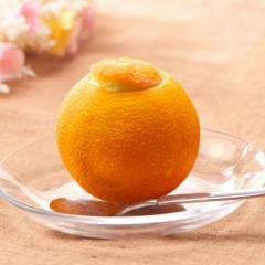 【クール便 送料無料】 くりぬきフルーツシャーベット【まるごとオレンジ】110ml×4個
