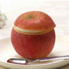 【クール便 送料無料】 くりぬきフルーツシャーベット【まるごとアップル】90ml×6個