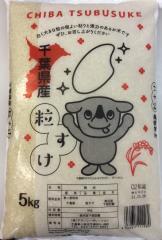 粒が大きく、一粒一粒がしっかりしている千葉県新品種米 「粒すけ」 5Kg ぜひ千葉の新種「粒すけ」ご賞味ください