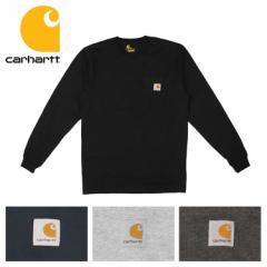 Carhartt カーハート ロンT メンズ ポケット付き 無地 長袖Tシャツ ロングTシャツ トップス