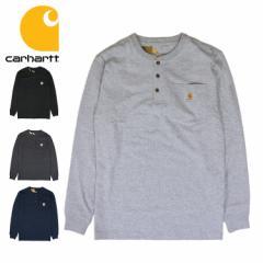 Carhartt カーハート ロンT メンズ ポケット付き 無地 長袖Tシャツ Carhartt?Long Sleeve Henley T-Shirt ロングTシャツ トップス 人気