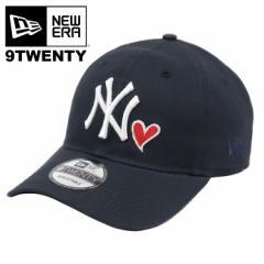 ニューエラ キャップ メンズ 帽子 ニューヨーク・ヤンキース NewEra  New York Yankees 920 NEYYAN NAVY RED HEART  ローキャップ  MLB