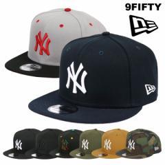ニューエラ キャップ ヤンキース 9FIFTY New Era Cap Men's スナップバック メンズ 帽子 NY ベースボールキャップ 黒 ブラック