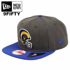 ニューエラ キャップ ロサンゼルス・ラムズ New Era 9FIFTY NFL HEATHER GRAPHITE LOSRAMCC OTC メンズ 帽子 スナップバックキャップ NFL