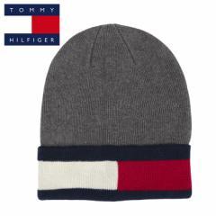 トミーヒルフィガー ニット帽 ニットキャップ フラッグロゴ メンズ レディース TOMMY HILFIGER RECYCLED YARN FLAG CUFF BEANIE リサイク