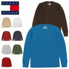 トミーヒルフィガー ロンT サーマル メンズ レディース TOMMY HILFIGER 長袖Tシャツ ロングTシャツ ミニフラッグロゴ ワンポイント 人気