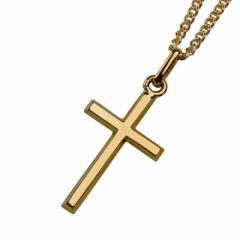 K18 ゴールド クロス ネックレス メンズ レディース シンプル  喜平 チェーン ゴールドアクセサリー イエローゴールド 18金