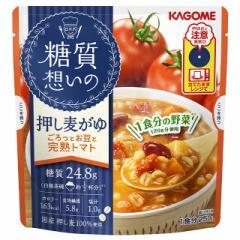 カゴメ 糖質想いの押し麦がゆ ごろっとお豆と完熟トマト 250g×10食 レトルト食品 糖質オフ レンジ調理 備蓄