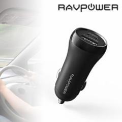 RAVPower カーチャージャー PD18W対応 USB-A×1 Type-C×1 30W RP-PC090