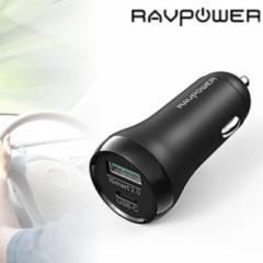 RAVPower カーチャージャー PD18W対応 USB-A×1・Type-C×1 36W RP-PC091