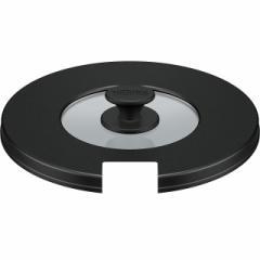 サーモス THERMOS 鍋 鍋蓋 取っ手のとれる鍋専用フタ 18cm鍋対応 KLB ブラック KLB-001 BK