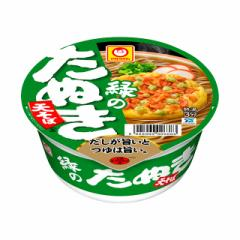 マルちゃん 緑のたぬき天そば 東日本 102g×12個 東洋水産 カップ麺 カップそば まとめ買い ケース販売 箱買い 備蓄