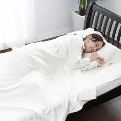 西川 タオル風パイル毛布 シングル アイボリー 洗える