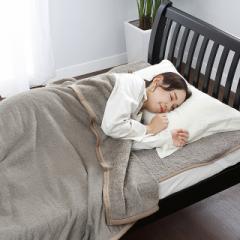 西川 毛布 タオル風パイル毛布 ダブル ブラウン 洗える