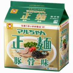 マルちゃん正麺 豚骨味 5食×6袋 東洋水産 袋麺 インスタント 即席 まとめ買い 備蓄 常備食