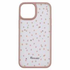 Blanccoco NY-Manhattan Light Hybrid Case for iPhone 2021(5.4inch)/Pink Beige Dot