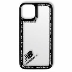 iPhone 2021(5.4inch)用 New Balance ラウンドロゴ ハイブリッドケース/ブラック
