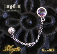 【GV】2ホールピアスミスティッククォーツ/天然石シルバー925銀送料無料