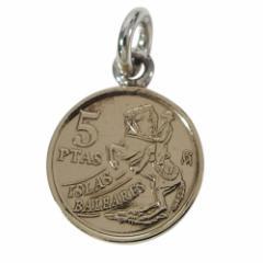 本物のスペインのコインペンダント(2)(メイン)シルバー925製/銀/硬貨送料無料