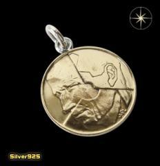 本物のベルギーのコインペンダント(1)/ヨーロッパ・コイン・硬貨・ペンダント・ネックレス送料無料
