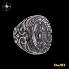 マリアリング(7)15号フリーサイズ/(メイン)・シルバー925銀・指輪・聖母マリア・送料無料