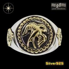 good vibrations【GV】カレッジリング(4)スワロウ・マリアSV+B21号フリーサイズ/【メイン】 鳥 ツバメ 動物 指輪 メンズ シルバー925銀