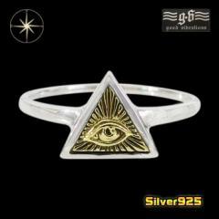 good vibrations【GV】プロビデンスの目の指輪(5)SV+B10号11号12号13号14号15号16号17号18号19号20号21号22号23号/【メイン】 指輪 シル